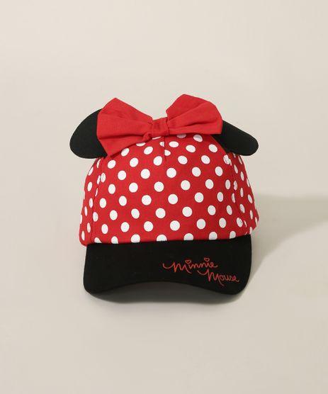Bone-Infantil-Aba-Curva-Minnie-com-Orelhinhas-e-Laco-Vermelho-9972450-Vermelho_1