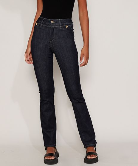 Calca-Jeans-Feminina-Sawary-Flare-Cintura-Alta-Azul-Escuro-9980184-Azul_Escuro_1
