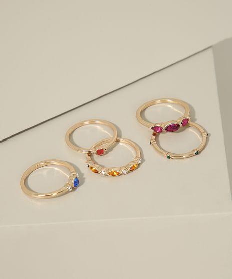 Kit-de-5-Aneis-Femininos-com-Pedras-Dourado-9963583-Dourado_1