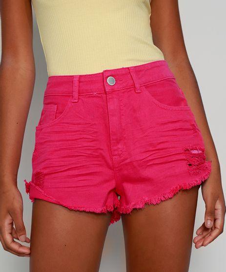 Short-de-Sarja-Feminino-Boy-Cintura-Media-Destroyed-com-Barra-Desfiada-Pink-9978124-Pink_1