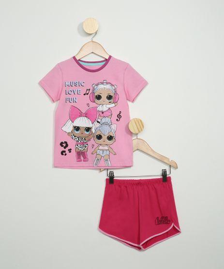Pijama-Infantil-Lol-Surprise-Manga-Curta-Rosa-9964012-Rosa_1