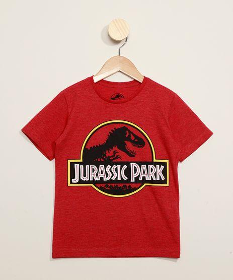 Camiseta-Infantil-Jurassic-Park-Manga-Curta-Vermelha-9973312-Vermelho_1
