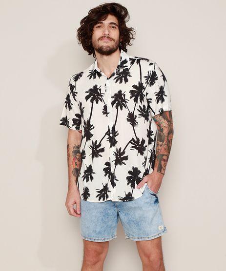 Camisa-Masculina-Tradicional-Estampada-de-Coqueiros-Manga-Curta-Branca-9968725-Branco_1
