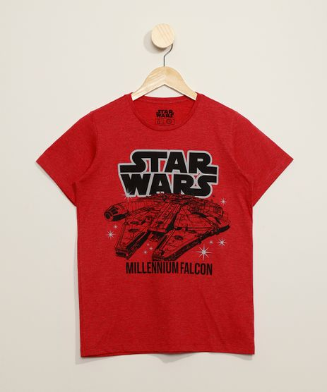 Camiseta-Juvenil-Millennium-Falcon-Star-Wars-Manga-Curta-Vermelha-9973318-Vermelho_1