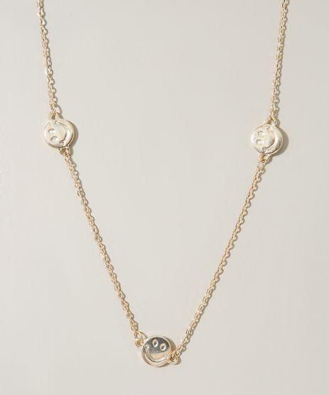 Colar-Feminino-com-Medalhas-Smile-Dourado-9976390-Dourado_1