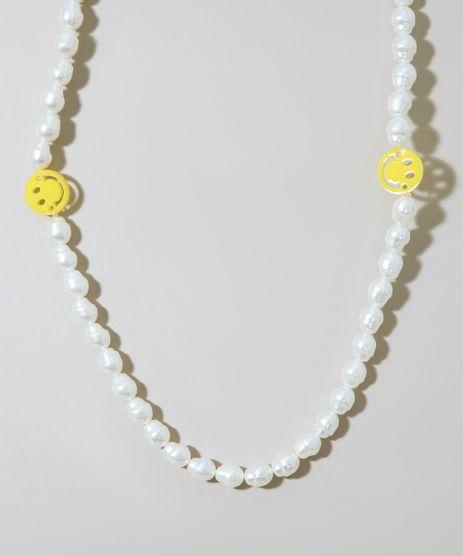 Colar-Feminino-de-Perola-com-Smile-Off-White-9976391-Off_White_1