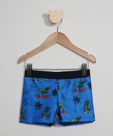 Sunga-Infantil-Boxer-Estampada-Dinossauros-Surf-com-Protecao-UV50--Azul-9967170-Azul_1