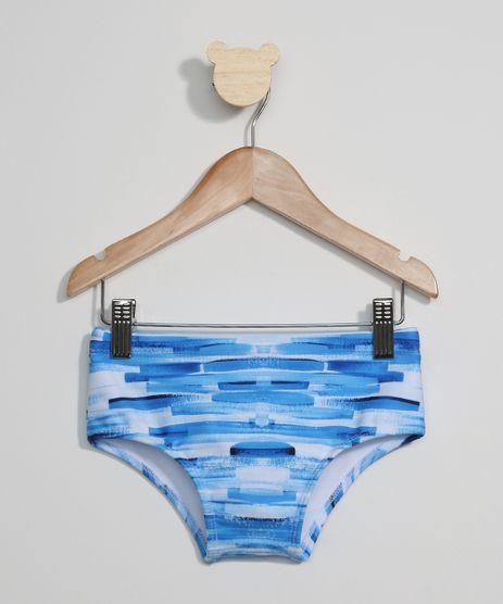 Sunga-Infantil-Tradicional-Estampada-Listras-Irregulares-com-Protecao-UV50--Azul-9973902-Azul_1