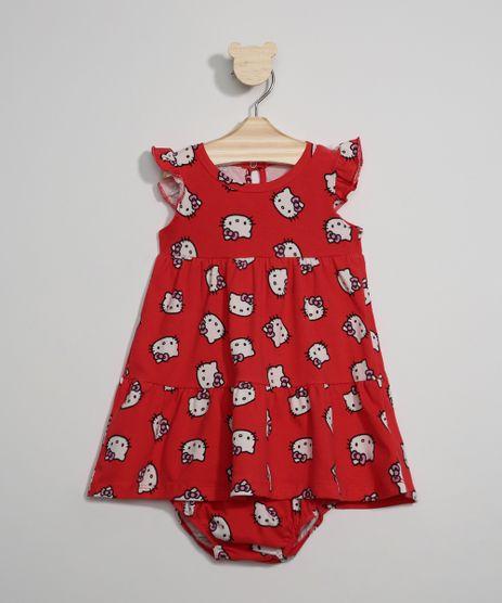Vestido-Infantil-Amplo-Estampado-Hello-Kitty-Manga-Curta---Calcinha-Vermelho-9976620-Vermelho_1