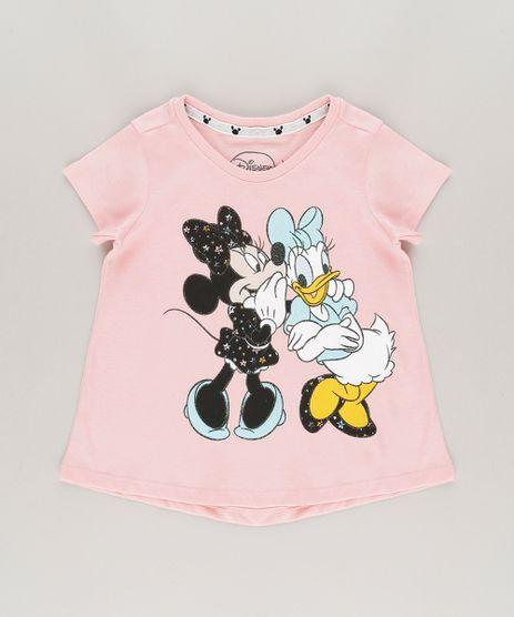 Blusa-Minnie-e-Margarida-em-Algodao---Sustentavel-Rosa-9042619-Rosa_1