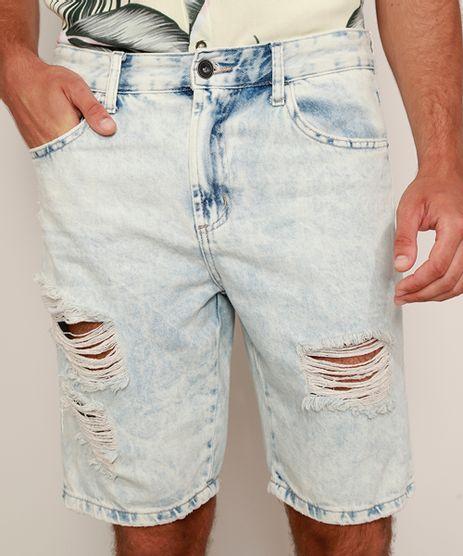 Bermuda-Jeans-Masculina-Slim-Destroyed-Azul-Claro-9975899-Azul_Claro_1