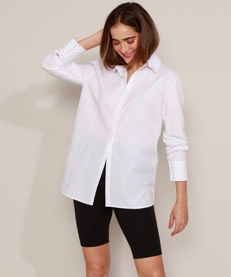 Camisa-Social-Unissex-Mindset-Longa-Manga-Longa-Branca-9983591-Branco_1