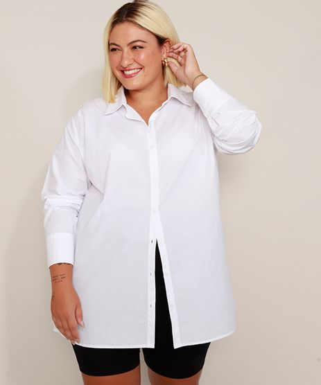 Camisa-Social-Unissex-Plus-Size-Mindset-Longa-Manga-Longa-Branca-9983592-Branco_1