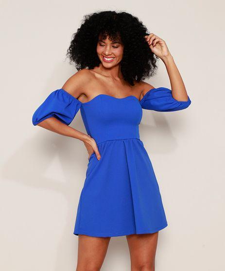 Vestido-Feminino-Curto-Ombro-a-Ombro-Manga-Bufante-Decote-Coracao-Azul-Royal-9981508-Azul_Royal_1