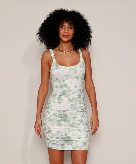 Vestido-Feminino-Curto-Canelado-Estampado-Tie-Dye-com-Franzido-Alca-Media-Verde-9974887-Verde_1