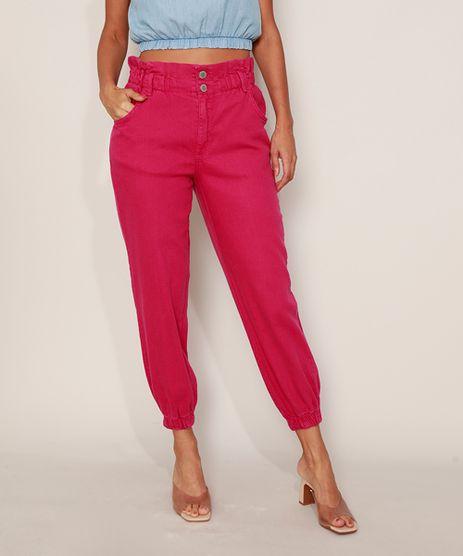 Calca-de-Sarja-Feminina-Mom-Jogger-Clochard-Cintura-Super-Alta-Pink-9977049-Pink_1