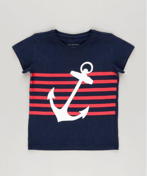 Camiseta--Ancora--em-Algodao---Sustentavel-Azul- ... eb7a9e3f24186
