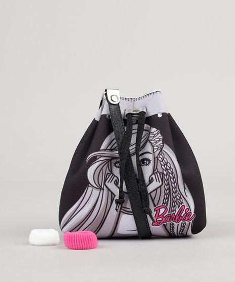 Bolsa-Barbie-com-Brilho----Elastico-de-Cabelo-Preta-9060473-Preto_1