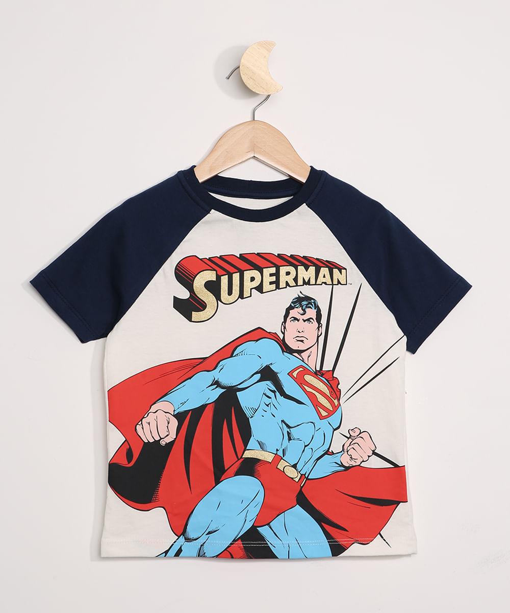 Camiseta Infantil Raglan Superman