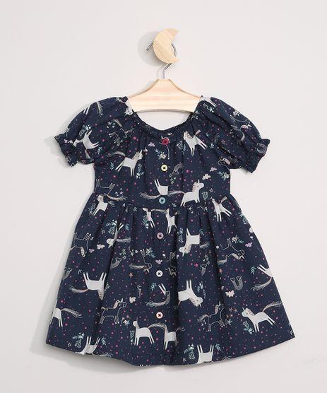 Vestido-Infantil-Estampado-Unicornios-Manga-Curta-Bufante-Azul-Marinho-9964376-Azul_Marinho_1