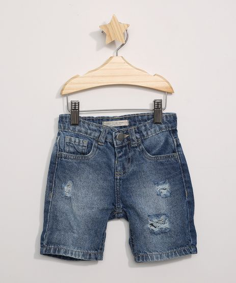 Bermuda-Jeans-Infantil-Reta-Destroyed-Azul-Medio-9973733-Azul_Medio_1