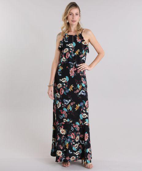 Vestido-Longo-Estampado-Floral-Preto-8968702-Preto_1