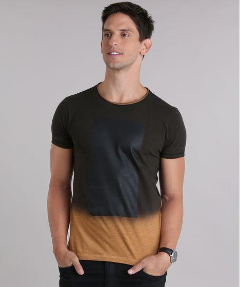 87dc2e94c9 Camiseta Degradê Marrom - cea