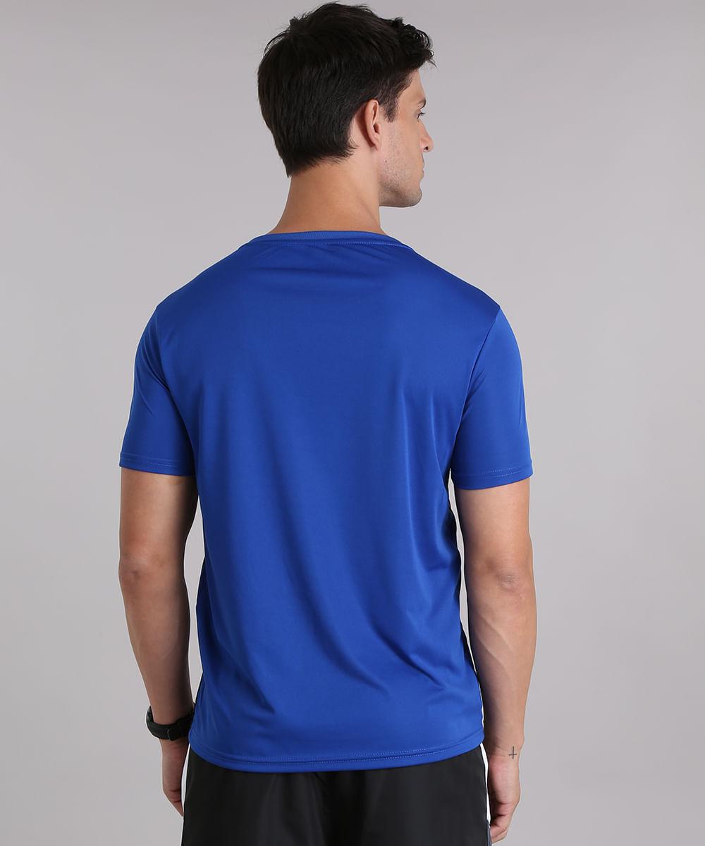 4bc545bbc8 Camiseta Masculina Esportiva Ace com Faixas Laterais Manga Curta ...