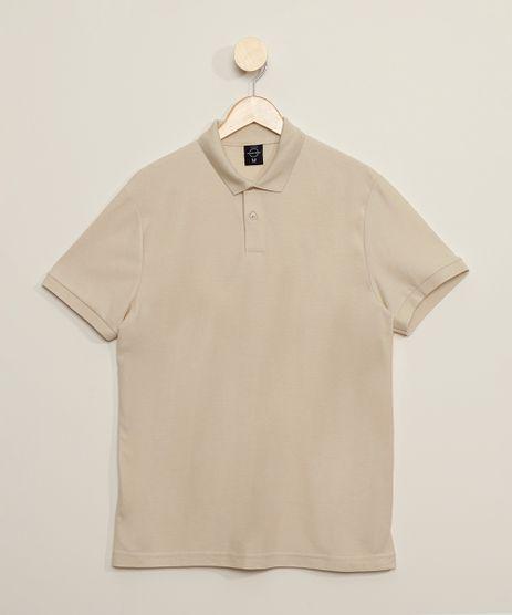 Polo-Masculina-Basica-Comfort-Manga-Curta-Bege-Claro-9449829-Bege_Claro_1