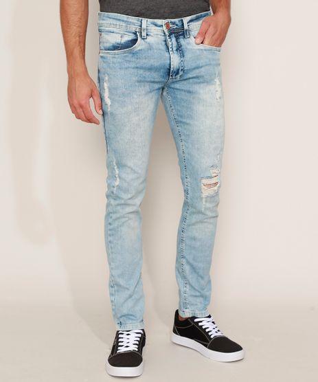 Calca-Jeans-Masculina-Slim-Destroyed-Azul-Claro-9966280-Azul_Claro_1