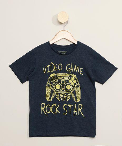 Camiseta-Infantil--Video-Game-Rock-Star--Manga-Curta-Azul-Marinho-9973329-Azul_Marinho_1