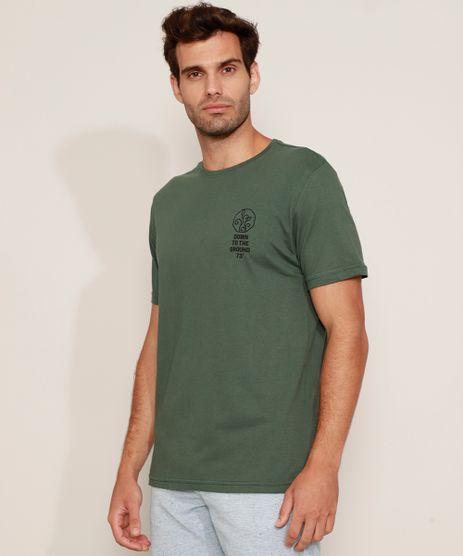 Camiseta-Masculina-Folhas--Down-to-the-Ground--Manga-Curta-Gola-Careca-Verde-Escuro-9977390-Verde_Escuro_1