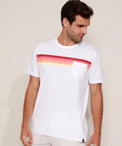 Camiseta-Masculina-com-Bolso-e-Listras-Manga-Curta-Gola-Careca-Branca-9977391-Branco_1