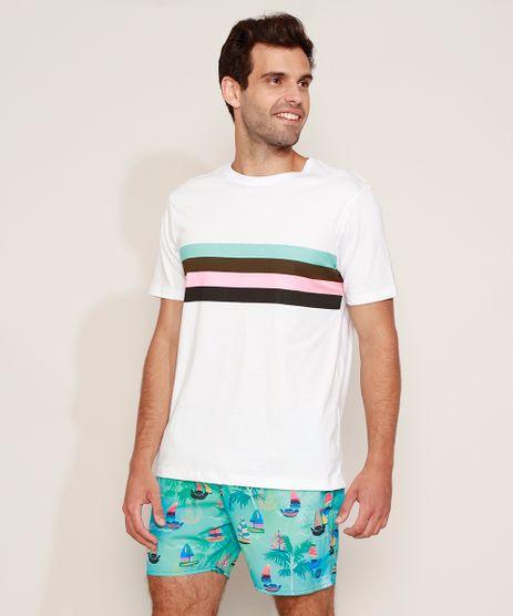 Camiseta-Masculina-com-Listras-Manga-Curta-Gola-Careca-Branca-9973189-Branco_1