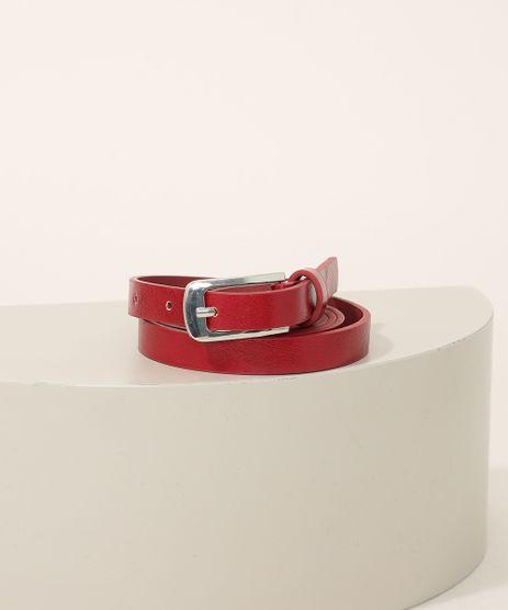Cinto-Feminino-Skinny-com-Fivela-Retangular-Vermelho-9963834-Vermelho_1
