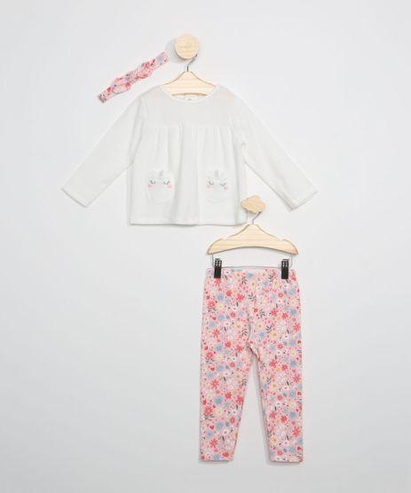 Conjunto-Infantil-de-Blusa-de-Plush-Unicornio-Manga-Longa-Off-White---Calca-Legging---Faixa-de-Cabelo-Estampada-Floral-Rosa-Claro-9966257-Rosa_Claro_1