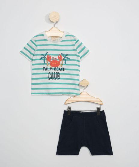 Conjunto-Infantil-de-Camiseta-Listrada-Caranguejo-Manga-Curta-Off-White---Short-Azul-Marinho-9946968-Azul_Marinho_1