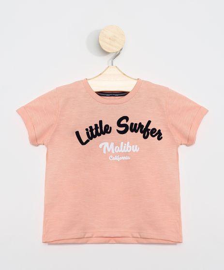 Camiseta-Infantil--Little-Surfer--Manga-Curta-Laranja-9963501-Laranja_1