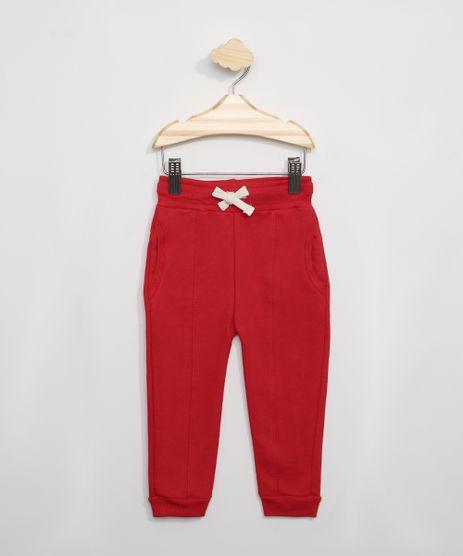 Calca-de-Moletom-Infantil-com-Recorte-Vermelha-9975132-Vermelho_1