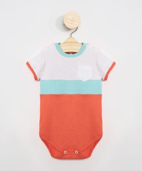 Body-Infantil-com-Recortes-e-Bolso-Manga-Curta-Laranja-9975134-Laranja_1