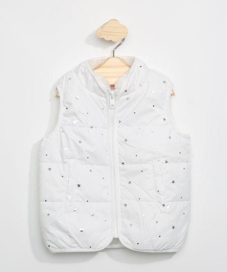 Colete-Infantil-Estampado-Estrelas-com-Ziper-Gola-Alta-Off-White-9966534-Off_White_1