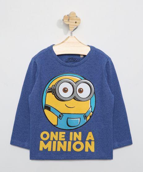Camiseta-Infantil-Minion-Manga-Longa-Azul-9979057-Azul_1