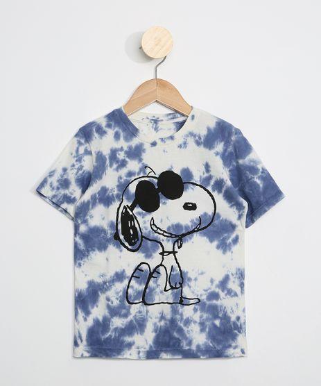 Camiseta-Infantil-Estampada-Tie-Dye-Snoopy-Manga-Curta-Azul-9969740-Azul_1