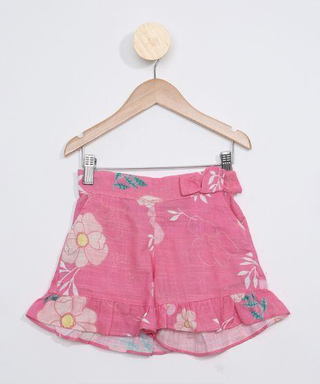 Short-Infantil-Estampado-Floral-com-Babados-Rosa-9965248-Rosa_1