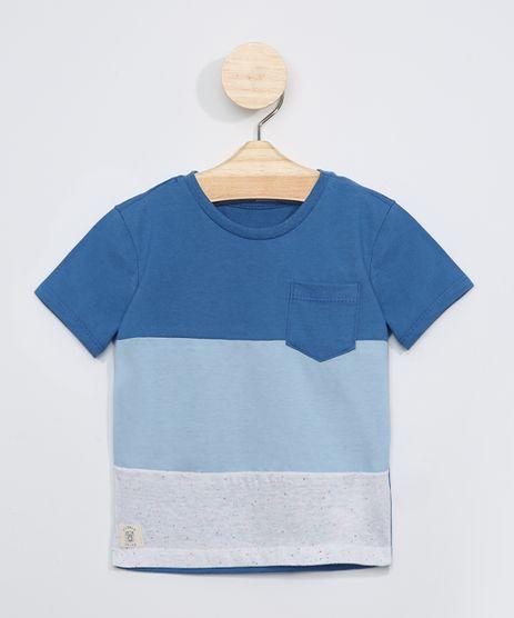 Camiseta-Infantil-com-Recortes-e-Bolso-Manga-Curta-Azul-9963500-Azul_1