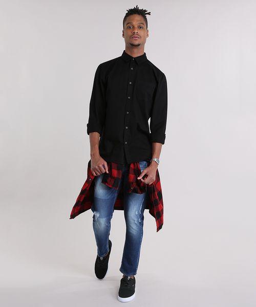 4c9d6ca7f1 Camisa-Preta-8877179-Preto 3