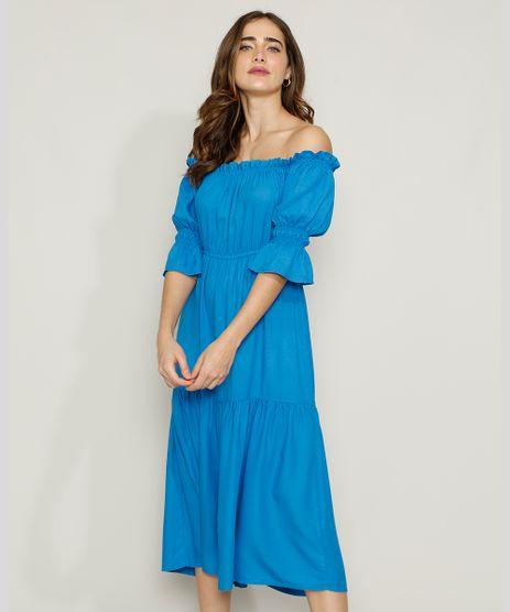 Vestido-Feminino-Mindset-Midi-Ombro-a-Ombro-com-Recortes-Manga-Bufante-Azul-Royal-9972972-Azul_Royal_1