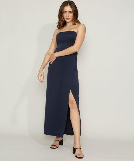 Vestido-Feminino-Mindset-Longo-Tomara-que-Caia-com-Transpasse-e-Fenda-Azul-Escuro-9984327-Azul_Escuro_1