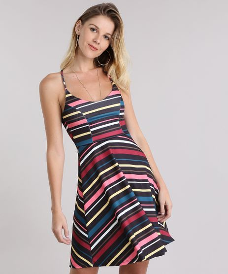 Vestido-Evase-Listrado-Preto-8994642-Preto_1