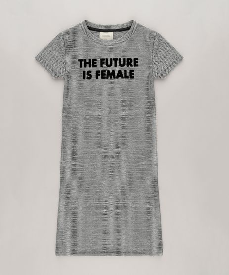 Vestido-Midi--The-Future-Is-Female--Cinza-Mescla-9038963-Cinza_Mescla_1